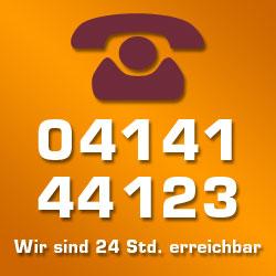 Tel. 04141 44123 (24 Std.)